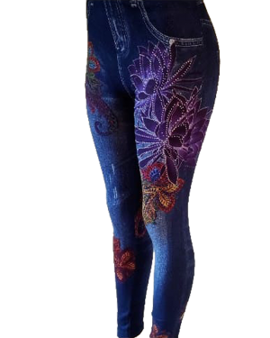 Leggings imprimé de denim-7-2